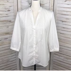Banana Republic Tops - BANANA REPUBLIC | White Pintuck Button Down Top S